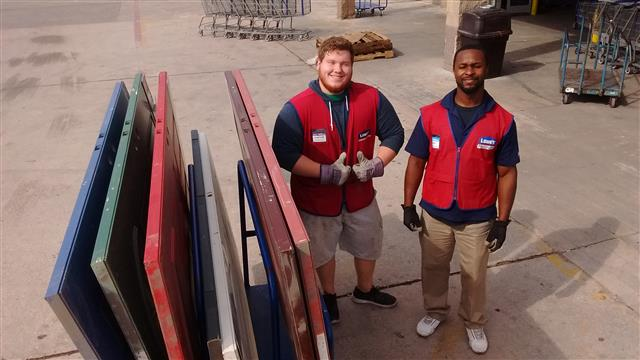 Lowe's door donation